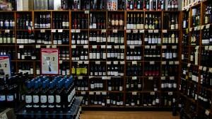 Loja de Vinho num super mercado