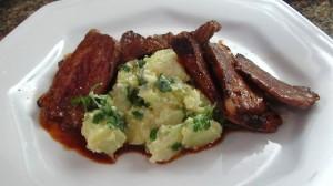 Rosbife de Maminha Organica, gado criado no pasto, com Salada Russa