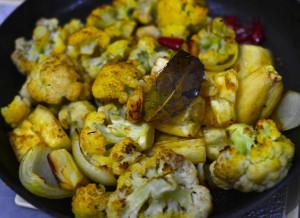 Prato Vegan, Couve Flor e Aipim ao Forno